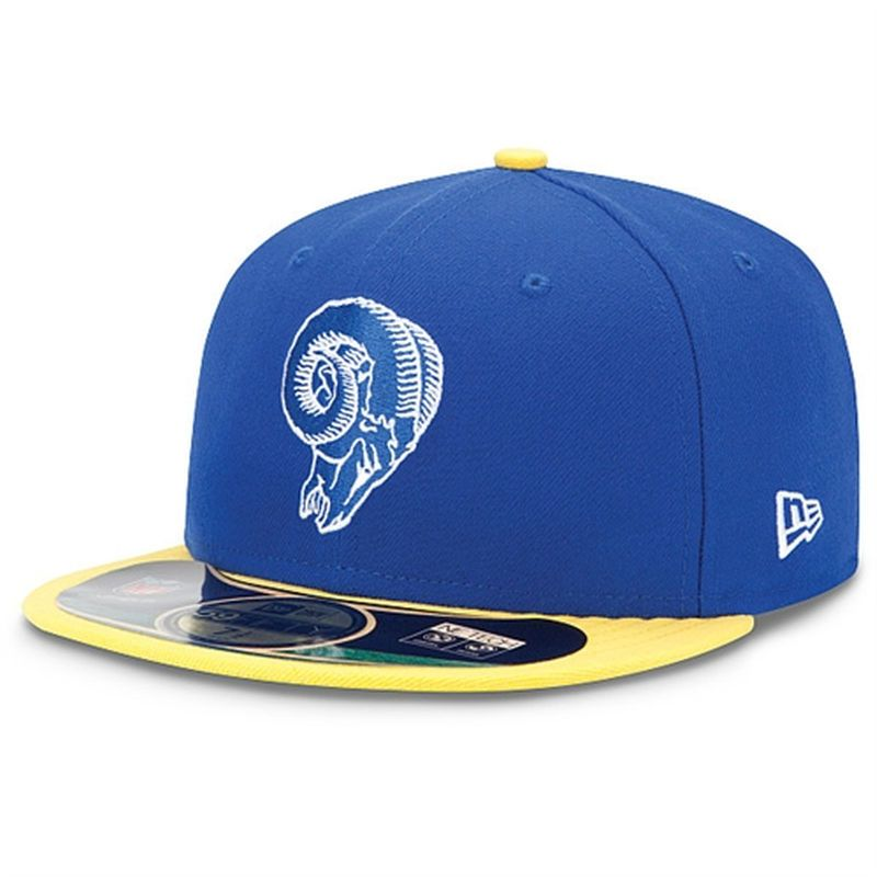 New Era Los Angeles Rams Youth On-Field Classic 59FIFTY Football Structured Fitted  Hat - Royal Gold 39b47034f