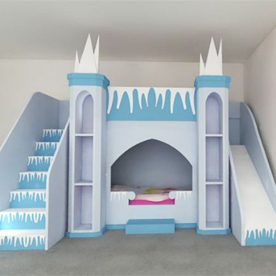 Frozen Elsa Princess Castle Themed Bed For My Kids Bedroom