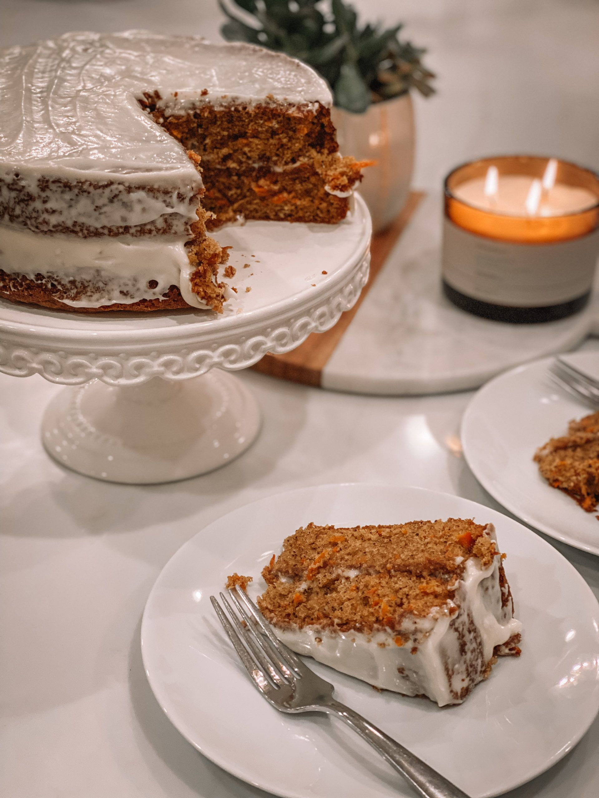 Delicious carrot cake with cream cheese frosting recipe