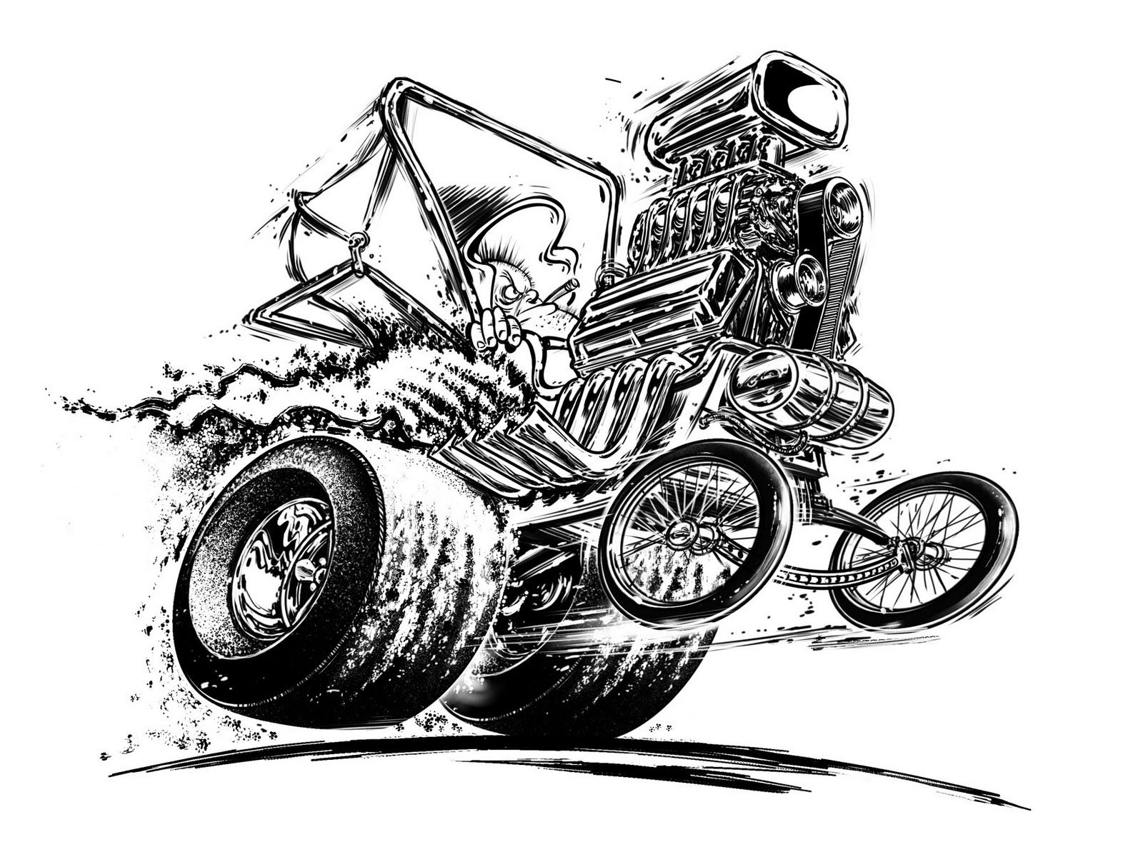 Hot Rod Monster Art Posted By Jeff Norwell At 8 36 Am No