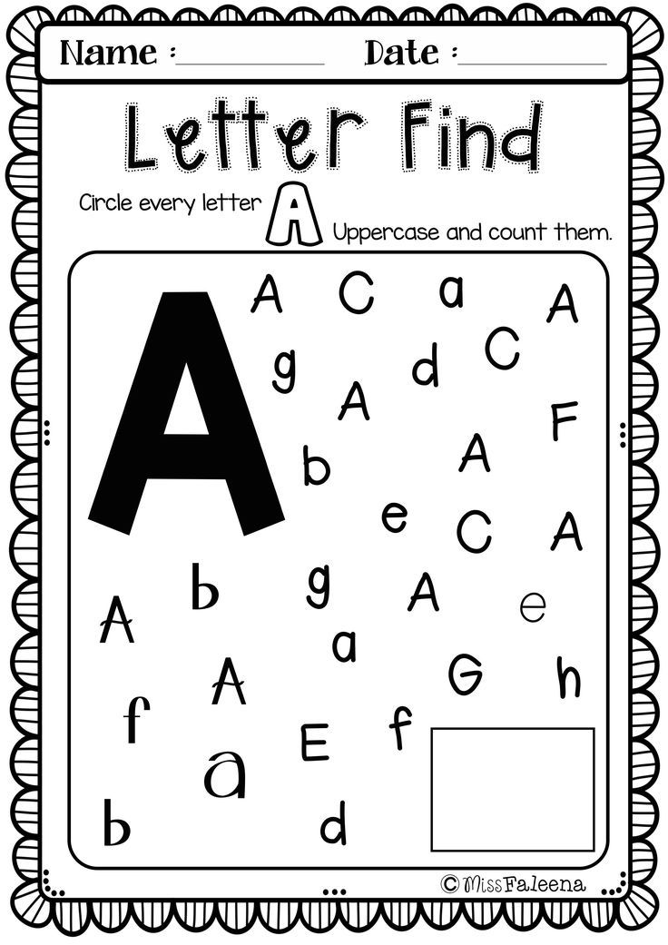Free Alphabet Letter of the Week A Letter of the week