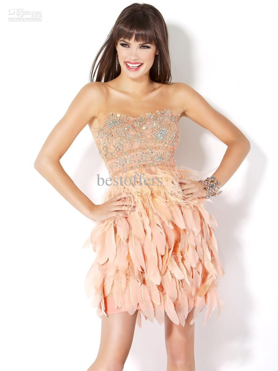 Pink feather dress i love weddingsr my soon to be sister