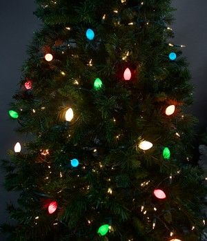 C9 Bulbs Opaque Multi Color Incandescent Christmas Light
