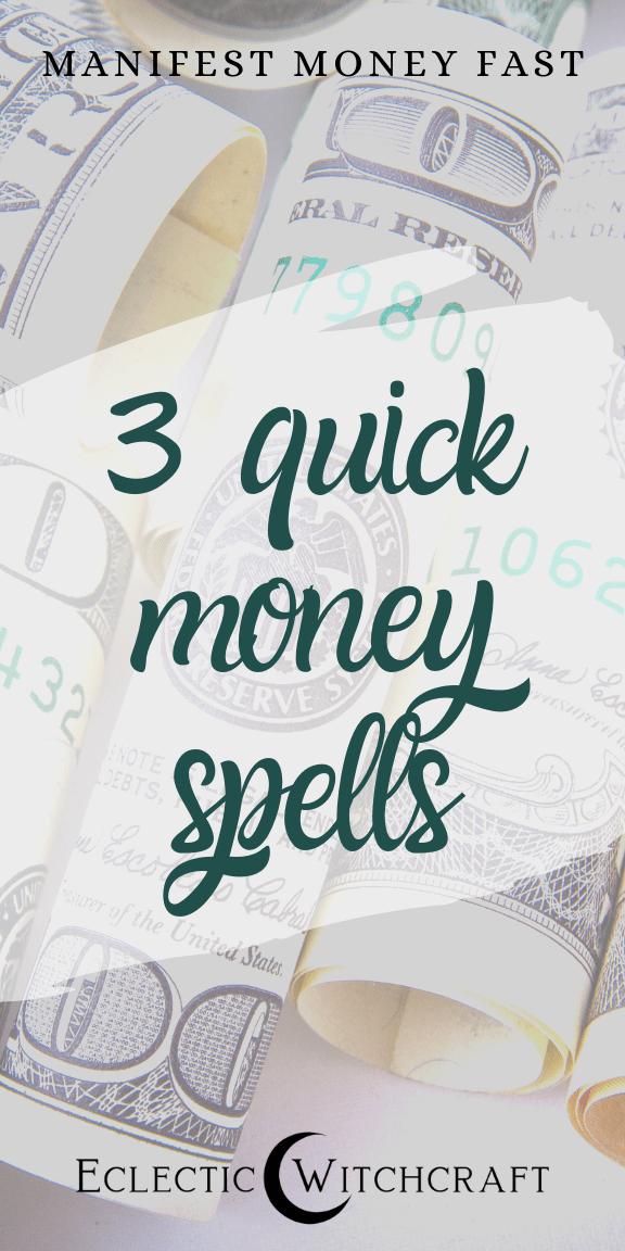 Three Easy Money Spells To Manifest Abundance Eclectic Witchcraft Money Spells Money Candle Spell Money Spells That Work