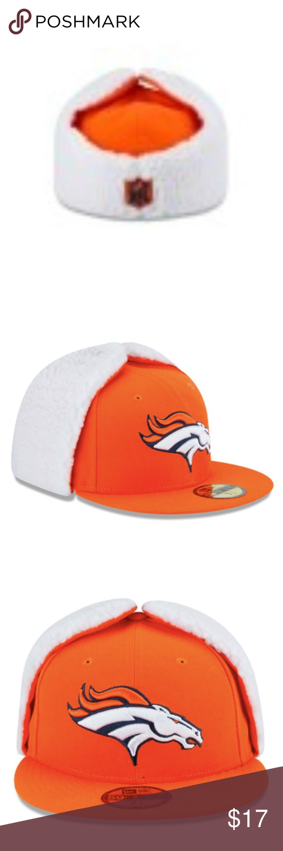 7a36ed5d Denver Broncos Flurry Fit Dog Ear Fitted Hat Brand New Officially ...