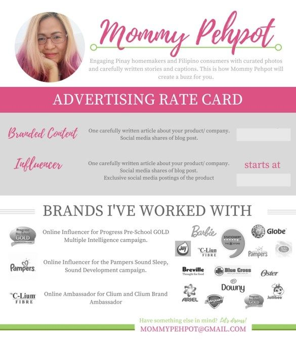 Design Your Blogger Rate Card Personal Budget Template Social Media Writing Blog Tips