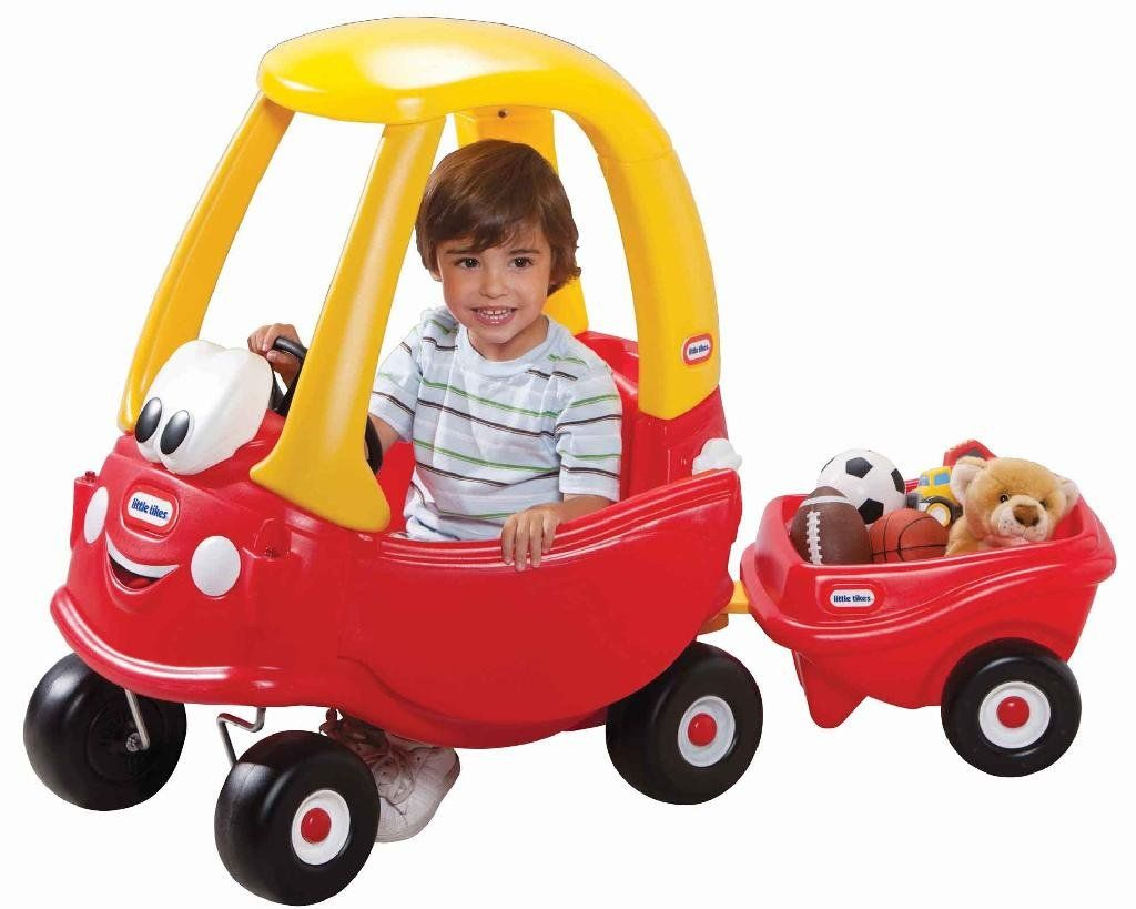 Little tikes cozy coupe 30th anniversary with cozy trailer for Little tikes motorized vehicles