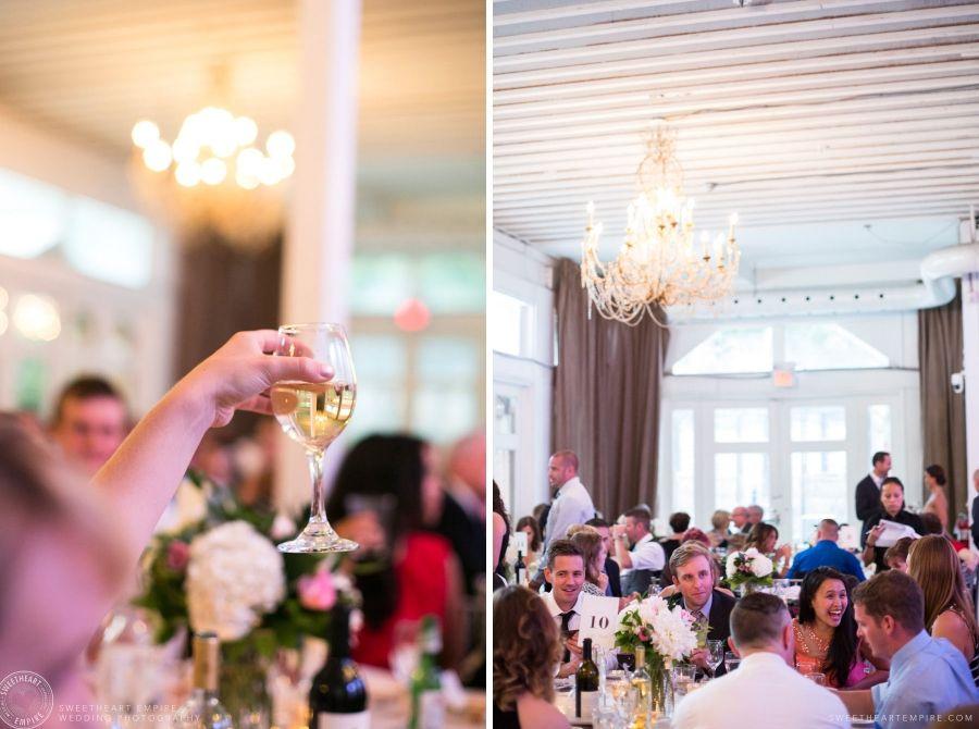 Toasts and celebration at the Berkeley Fieldhouse Wedding, Toronto Wedding Photographer. #sweetheartempirephotography