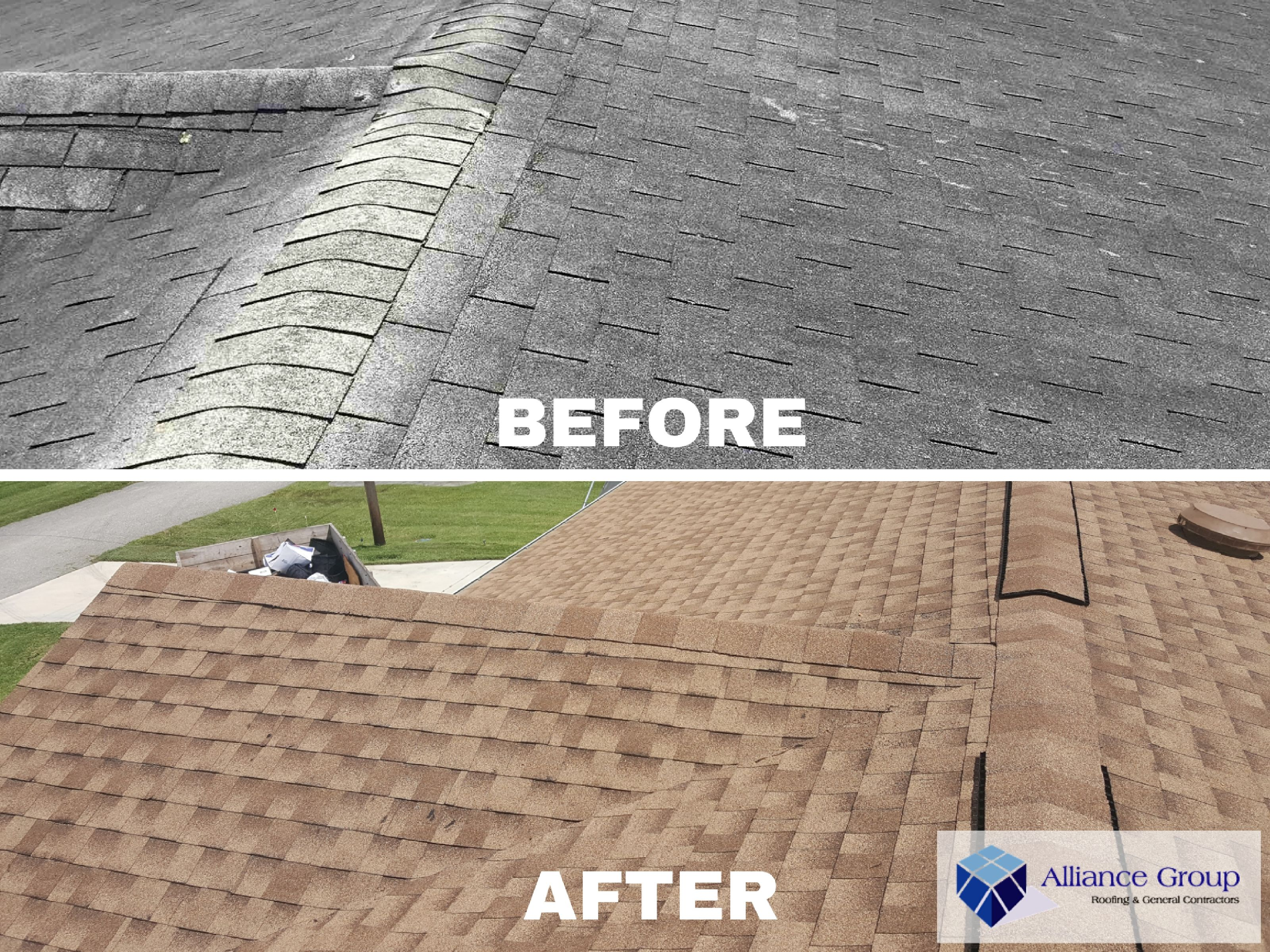 Before After Shingle Roof Project Is Your Roof Looking Worn Maybe It S Time For A Change Call 800 822 Roofing Specialists Residential Roofing Roof Repair