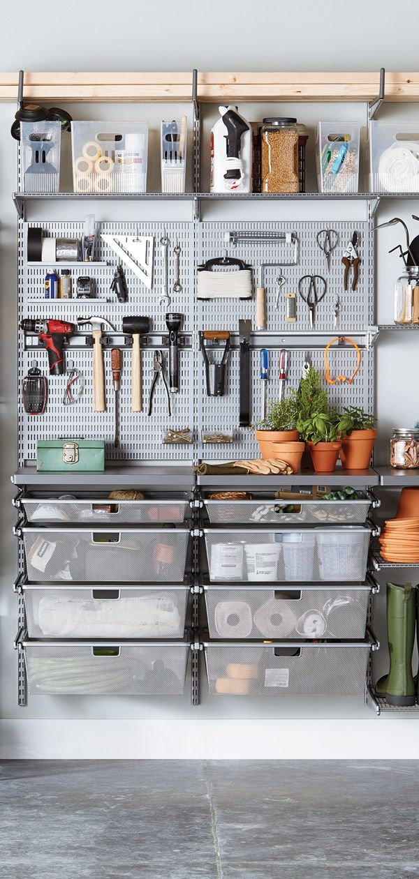 elfa garage solutions are customizeable and strong they on cool diy garage organization ideas 7 measure guide on garage organization id=50629