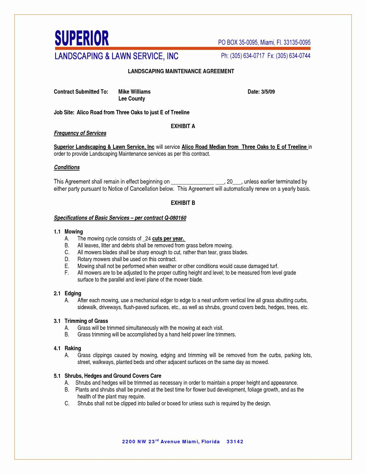 Lawn Maintenance Contract Template Free Beautiful Maintenance Contract Agreement Landscapes Lawnmaint Landscape Maintenance Lawn Maintenance Contract Template Home health care contract template