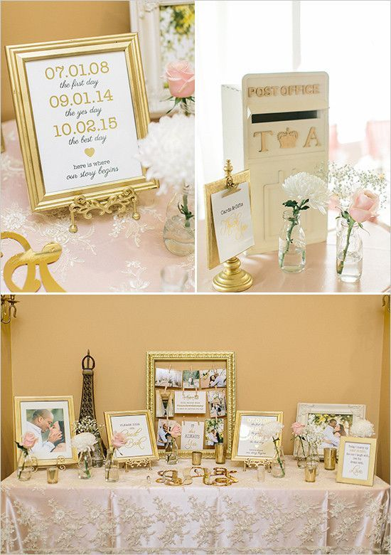 Wedding Gift Table Decorations Sign And Ideas Delectable A Pink And Gold Reception You Wont Believe  Guest Book Table Review
