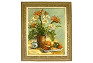Floral & Fruit Still Life  $395.00