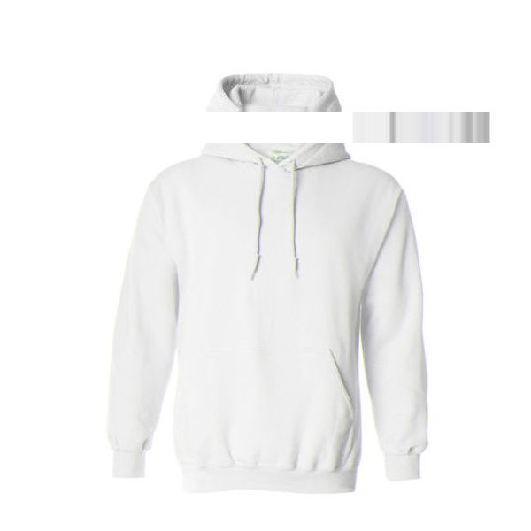 54b80f75481e Hooded Plain White Sweatshirt Men Women Pullover Hoodie Fleece Cotton... ❤  liked on Polyvore featuring mens