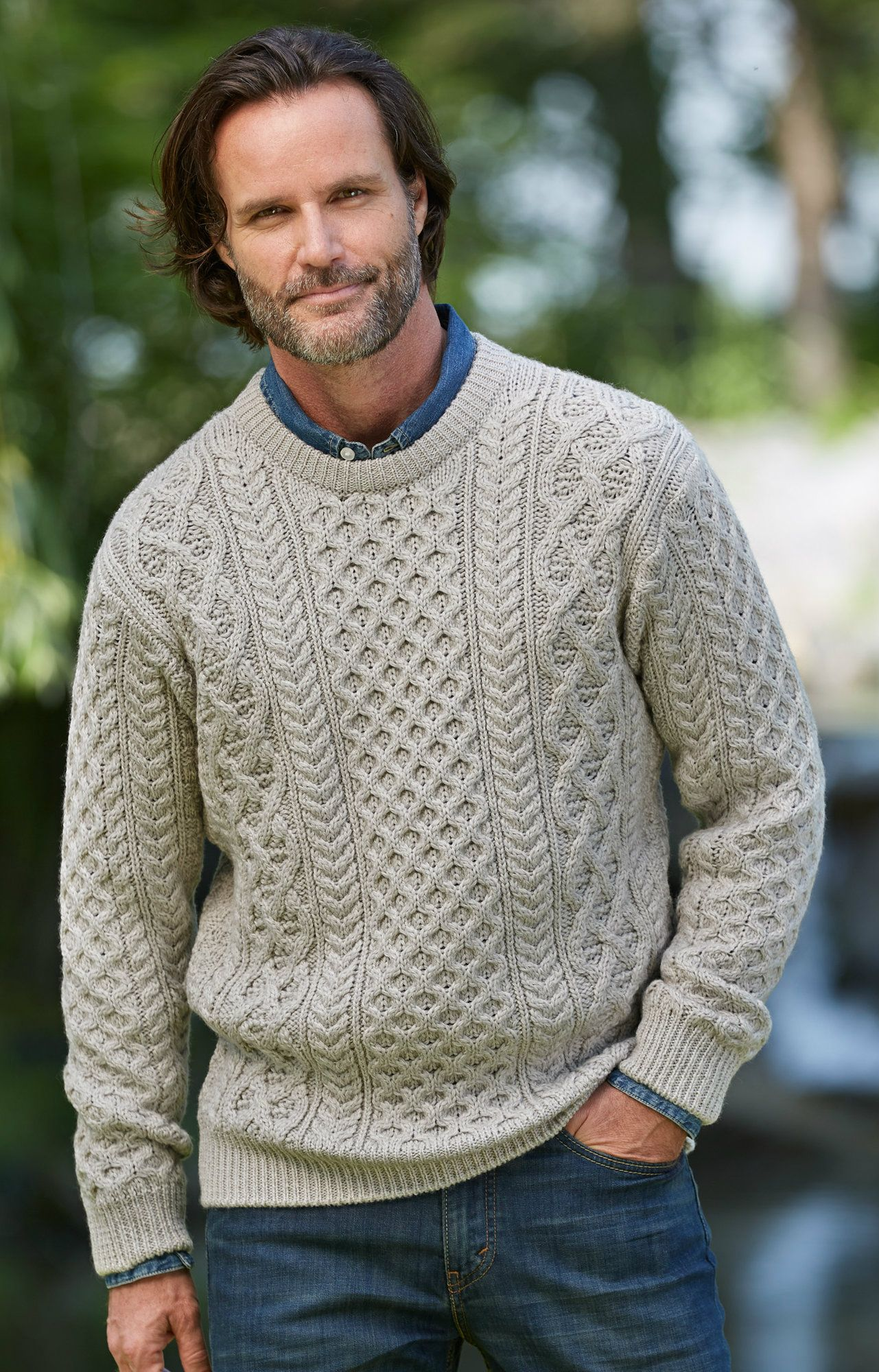 Irish aran wool crew aran sweaters knitting patterns and aran at the mouth of galway bay in western ireland lie three remote islands that make up the arans its here that classic aran sweaters are still hand knit bankloansurffo Gallery