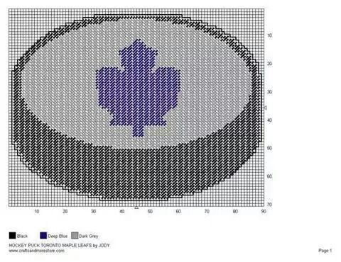 HOCKEY PUCK TORONTO MAPLE LEAFS by JODY -- WALL HANGING