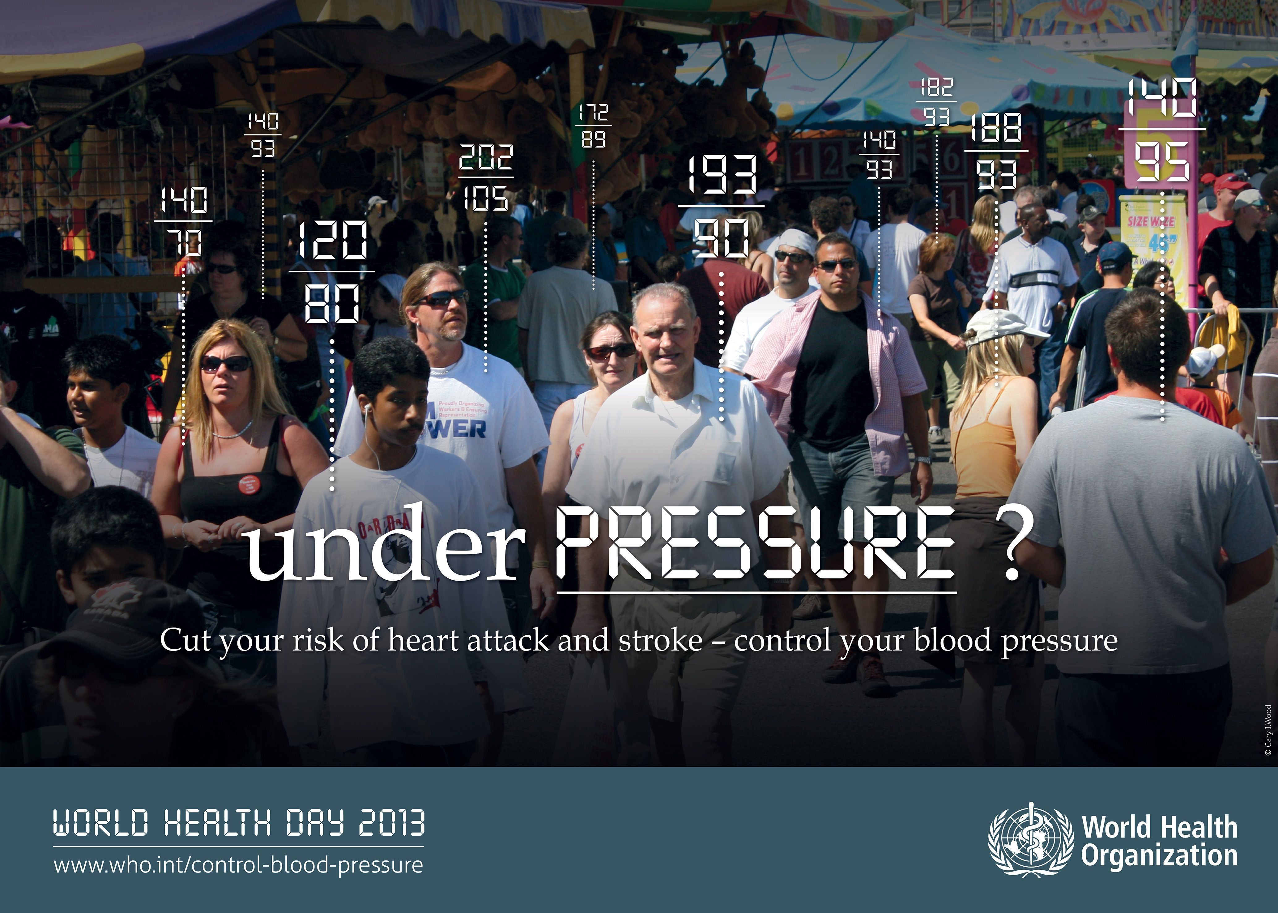 Europa : Cut your risk of heart attack and stroke - Control your blood blood pressure - UNDER PRESSURE ?  WORLD HEALTH DAY 2013   http://www.WHO.int/control-blood-pressure