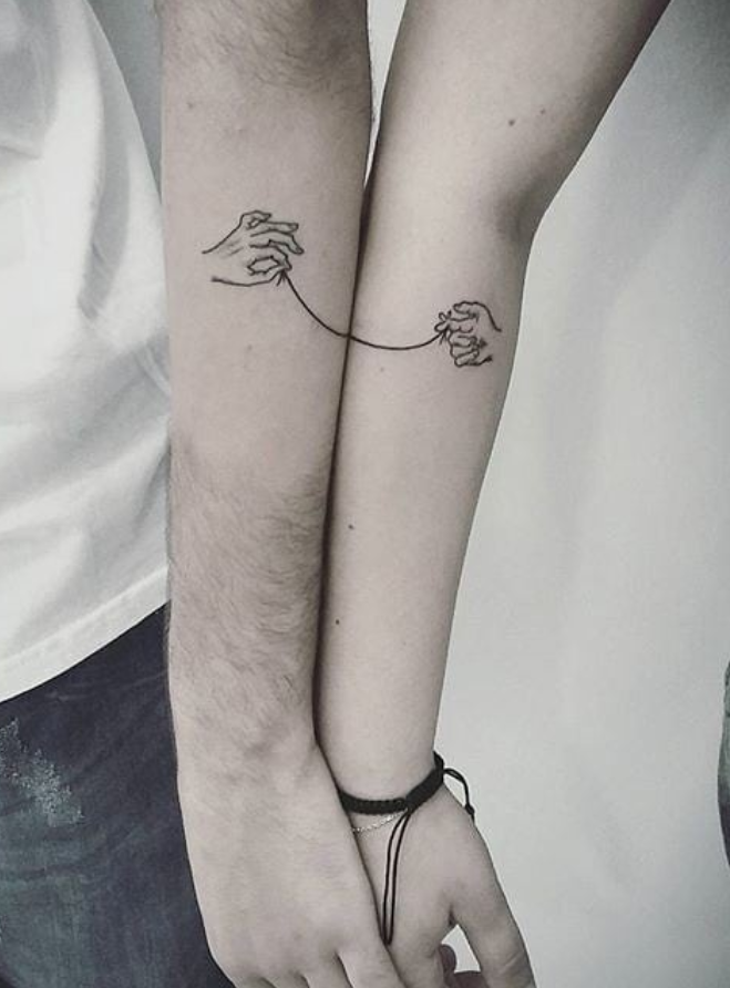 46 Lovely Matching Couple Tattoo Designs To Show Your Love Meaningful Tattoos For Couples Couple Tattoos Matching Couple Tattoos