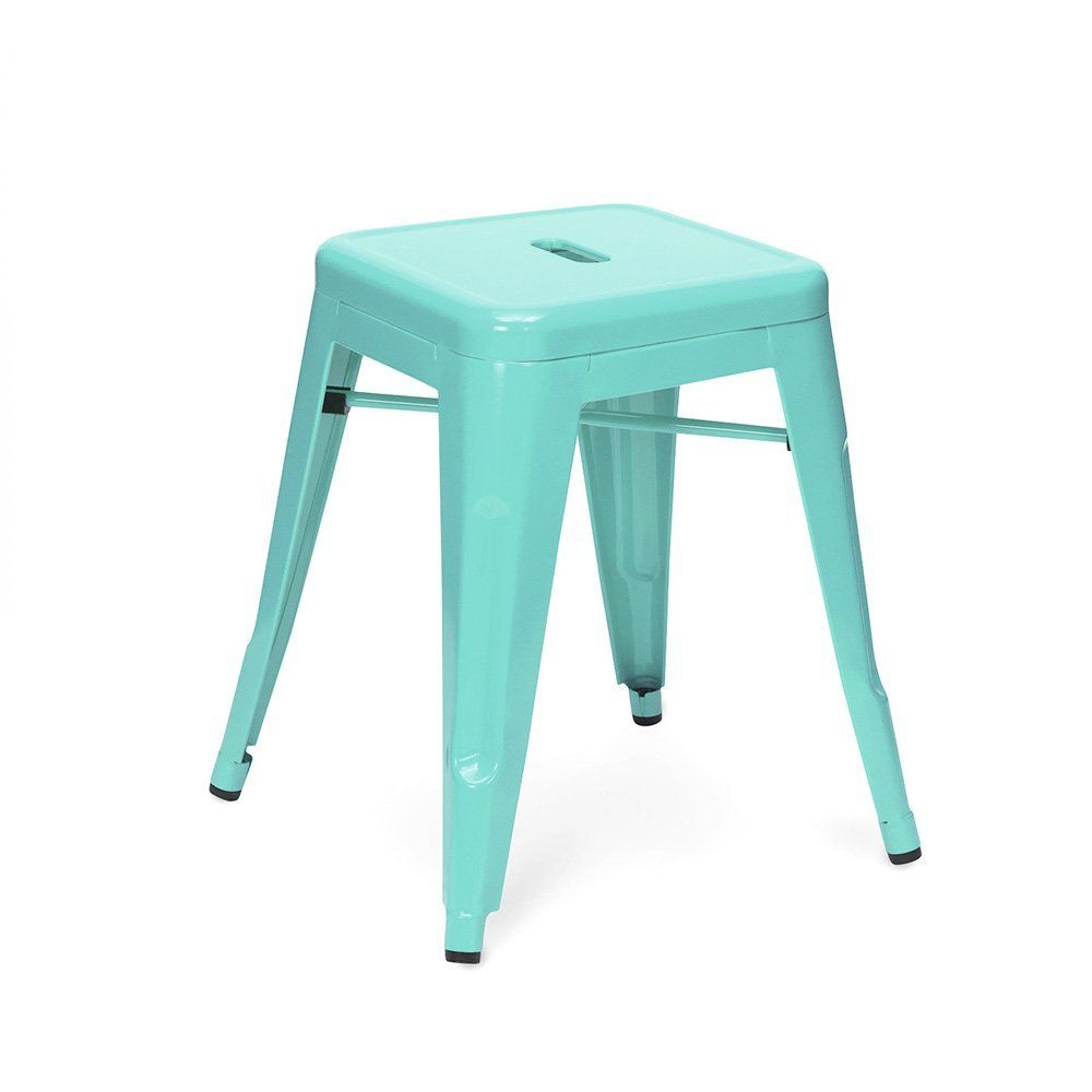 Xavier Pauchard Tolix Style 45cm Peppermint Coated Stool