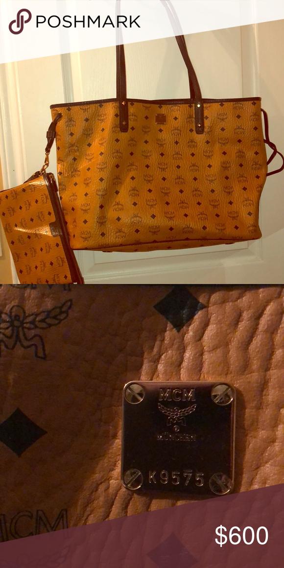 Authentic MCM XL Large IPad case Wallet Clutch bag NWT
