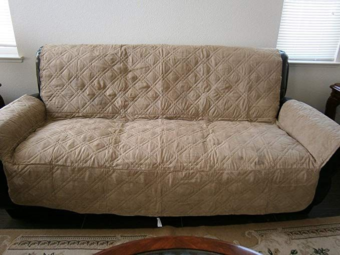 Quilted Bonded Or Classic Micro Suede Pets Sofa Loveseat
