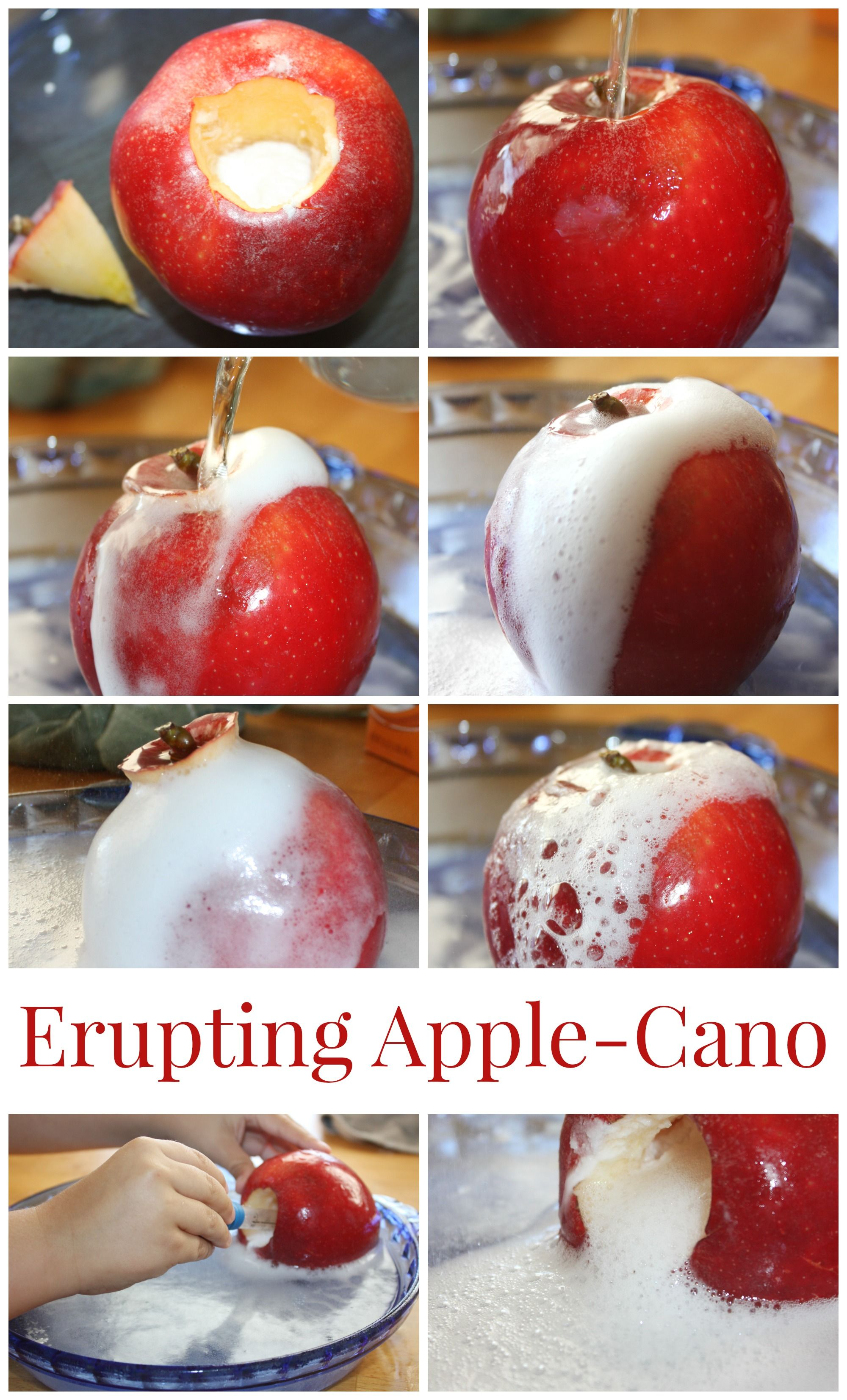 Erupting Apple Science With An Apple Volcano