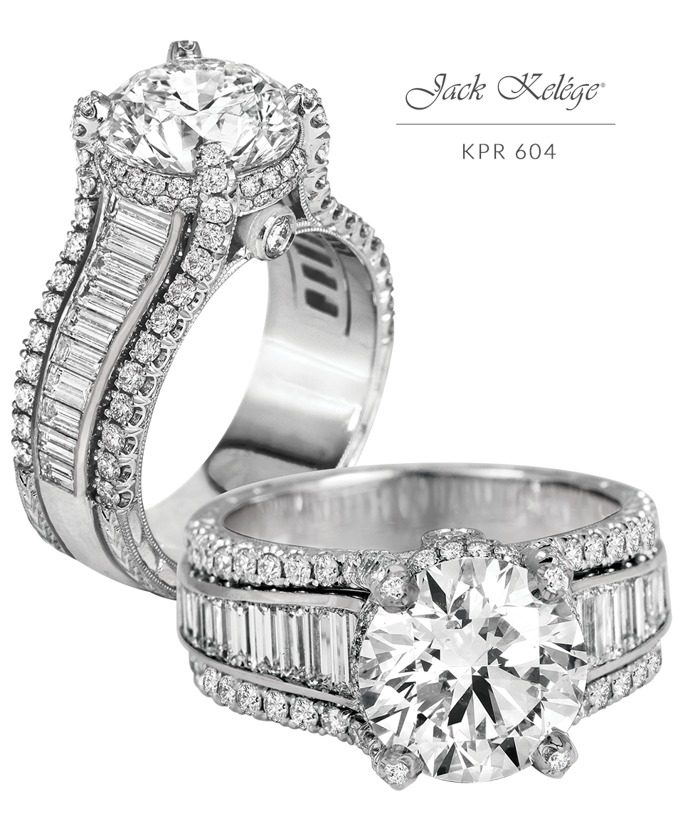 Jack Kelége diamond and platinum engagement ring in 2020