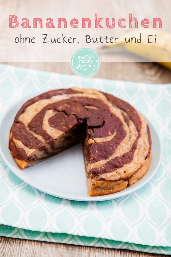Photo of Banana cake without sugar and egg Baking makes you happy