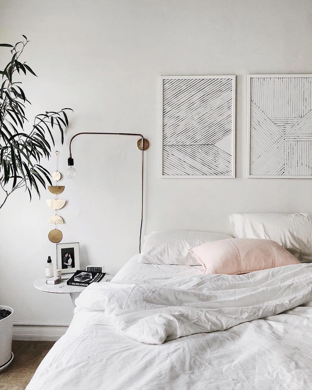 #BestHomeDecoratingApps | All white bedroom, Minimalist ...
