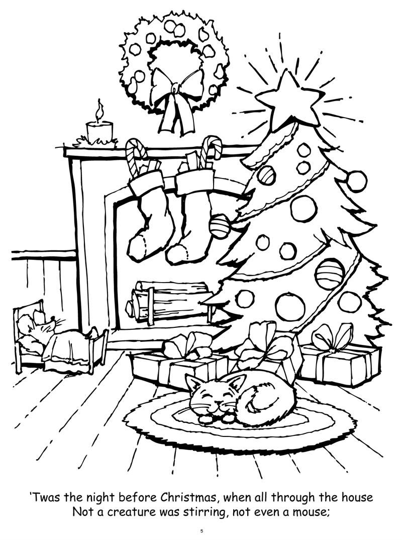 Night Before Christmas Coloring Pages Christmas Coloring Books Christmas Coloring Sheets Christmas Coloring Pages