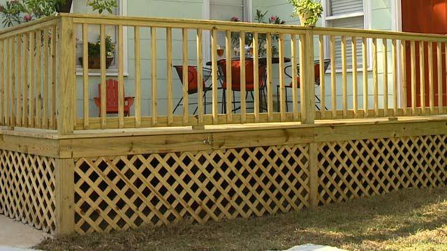 Adding Wood Lattice Under Skirting Around A Deck Foundation Today S Homeowner Building A Deck Lattice Deck Porch Lattice