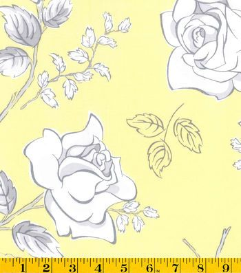 Gertie Collection Fabrics-Rayon Sketch Yellow Rose | Fabric a Disney ...