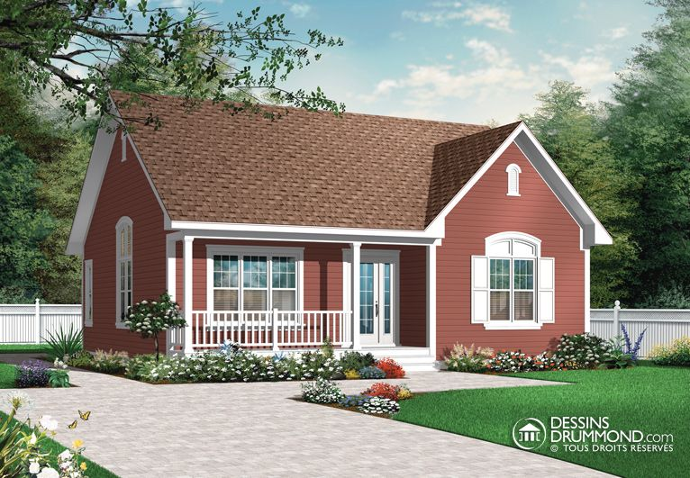 house_plan_maison_plain_pied_Bungalow_W3121 | Chalet | Pinterest ...