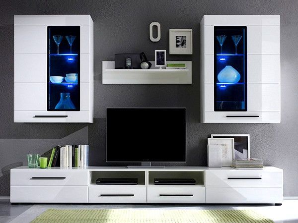 Living Room Furniture Wall Units Set Stunning Modern Argus Living Room Furniture Set White Gloss Led Wall Unit . Design Decoration