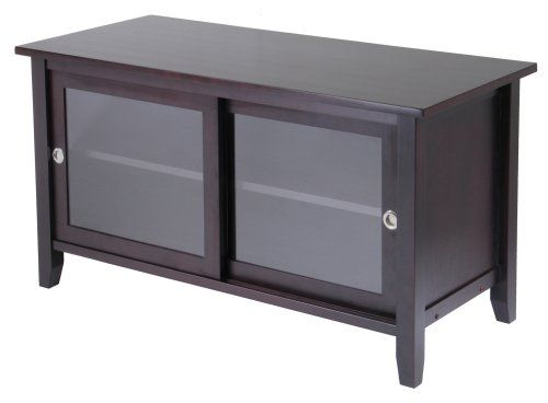 Winsome Wood TV Stand With Glass Sliding Doors, Espresso Winsome Wood. Media  StandsGlass ...