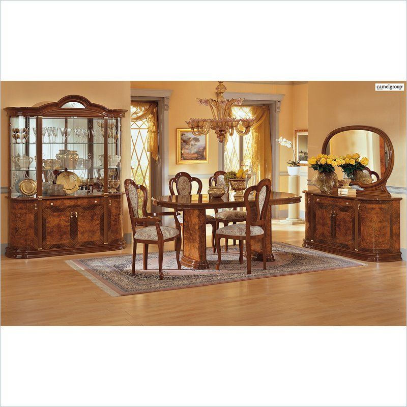 Lowest Price Online On All Camelgroup Milady 4 Door China Cabinet In Walnut