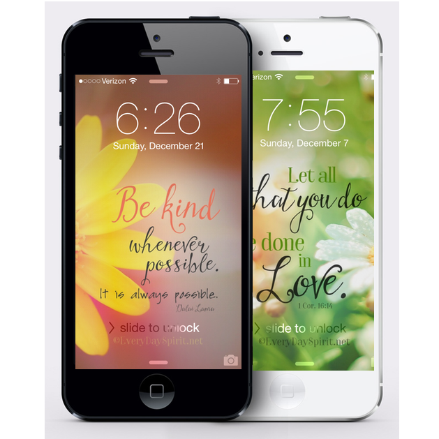 Every Day Spirit Lock Screens. Wallpapers that inspire for Android and iPhone. www.everydayspirit.net