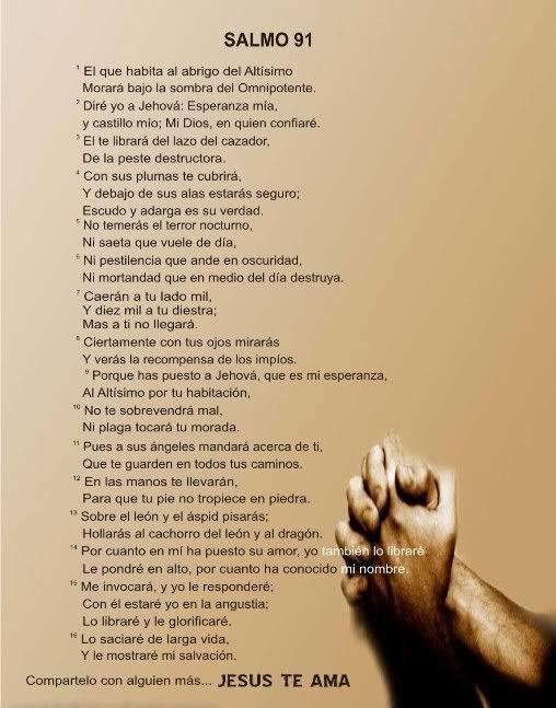 Muitas vezes Salmo 91 CATOLICO   salmo 91   Pensamientos.   Pinterest   Fe  DI82