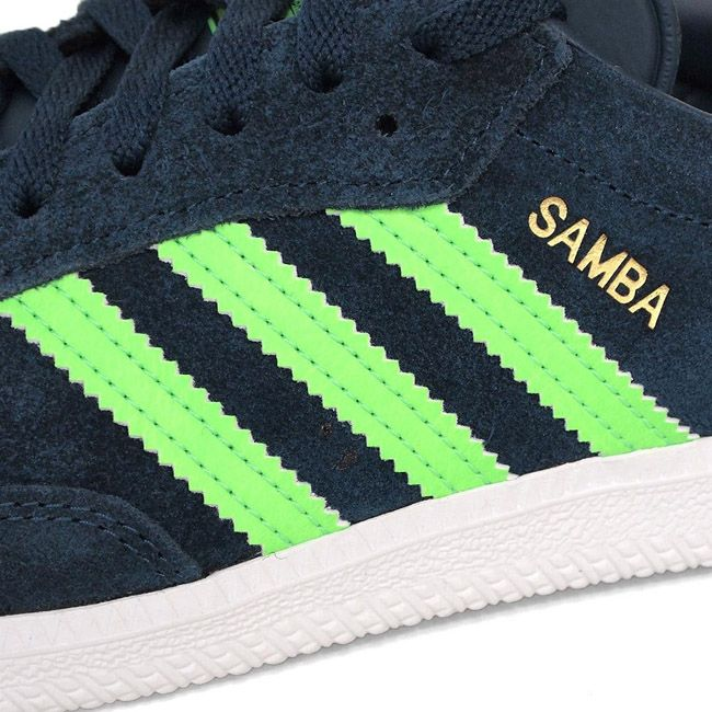 adidas samba green bianca