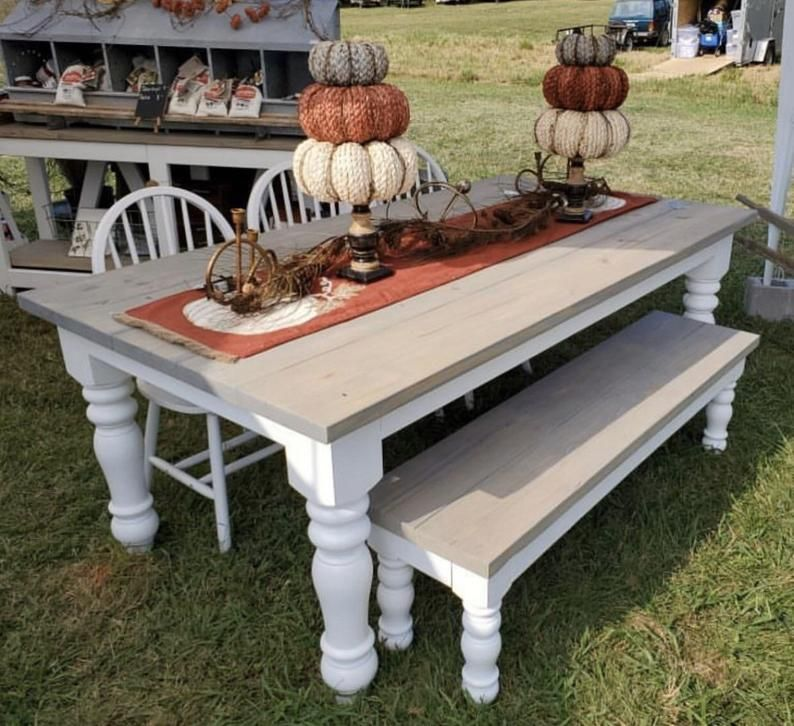 20++ Chunky pine dining table model