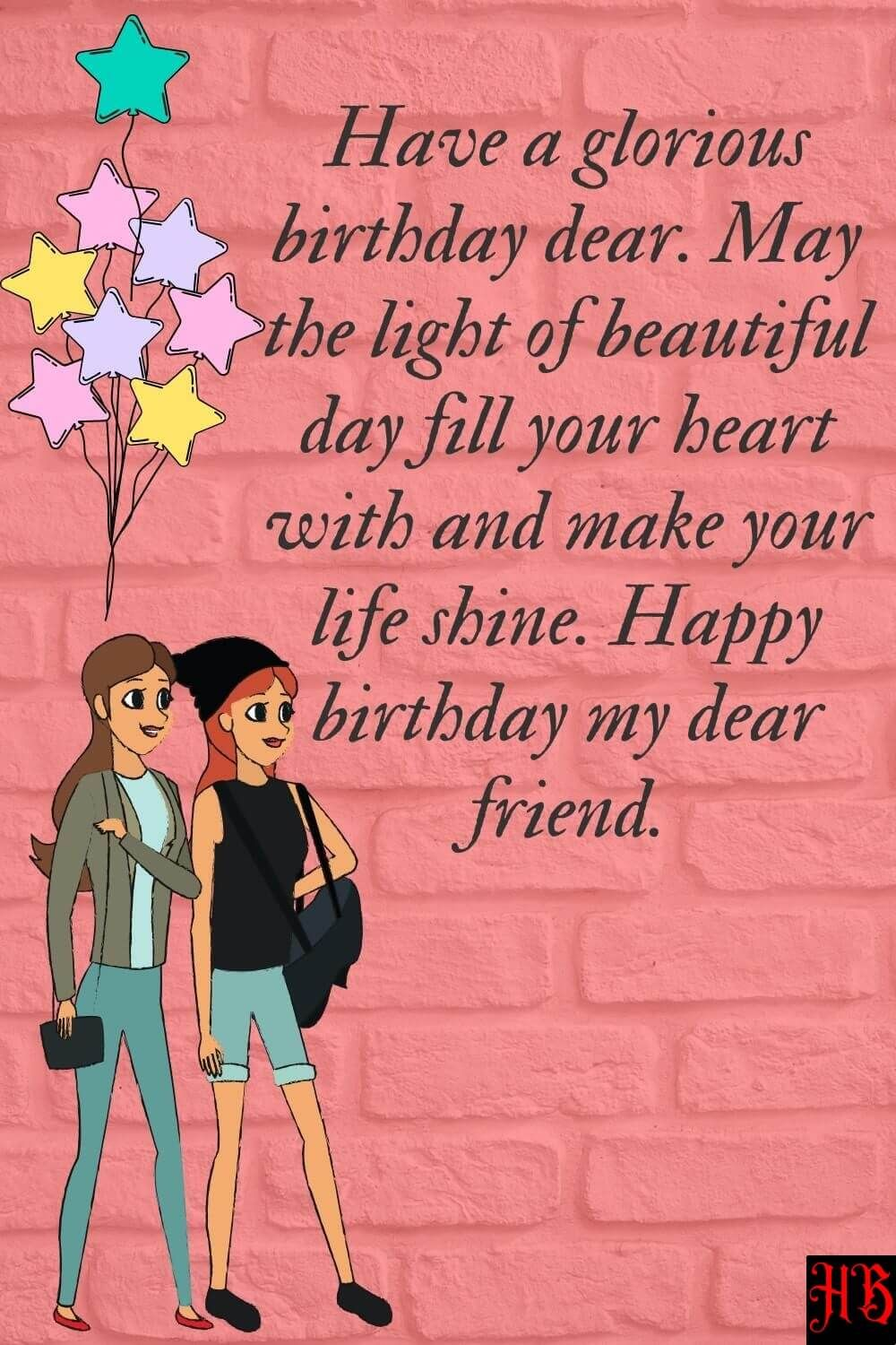 Birthday Wishes for Friend, Bestie, BFF, Pal, Buddy in