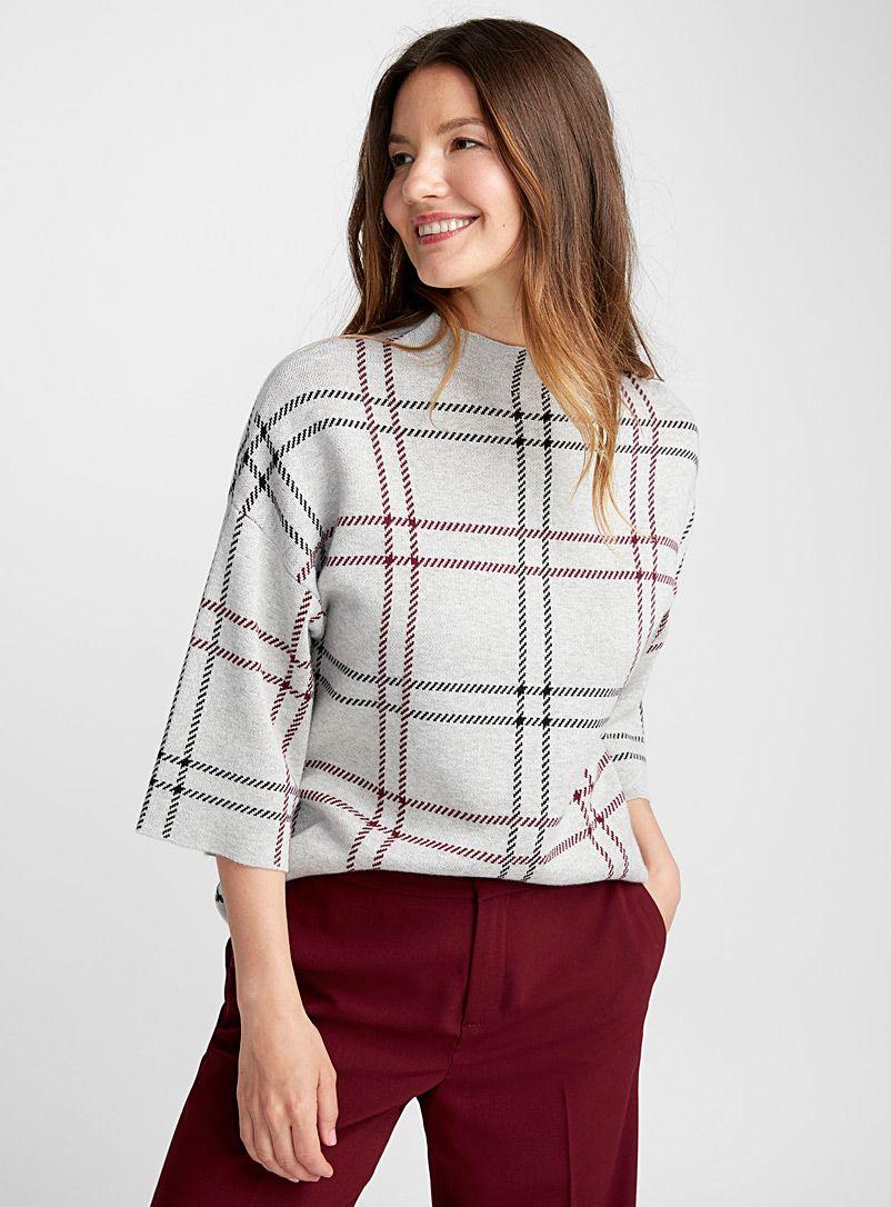 63e73793e92 Check mock-neck sweater | Contemporaine | Shop Women's Sweaters ...