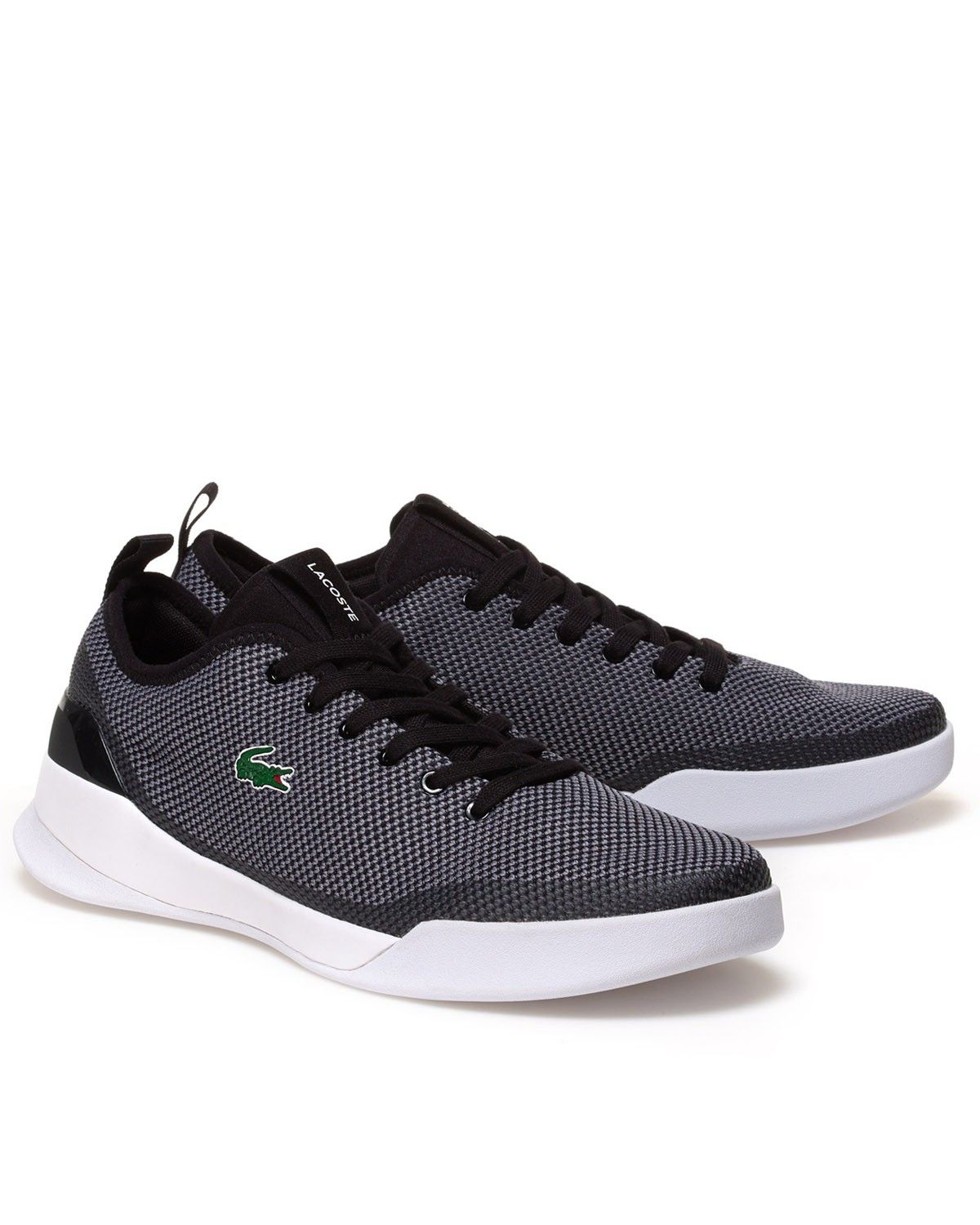 LACOSTE SHOES Lacoste Black & White & Grey Shoes - Dual