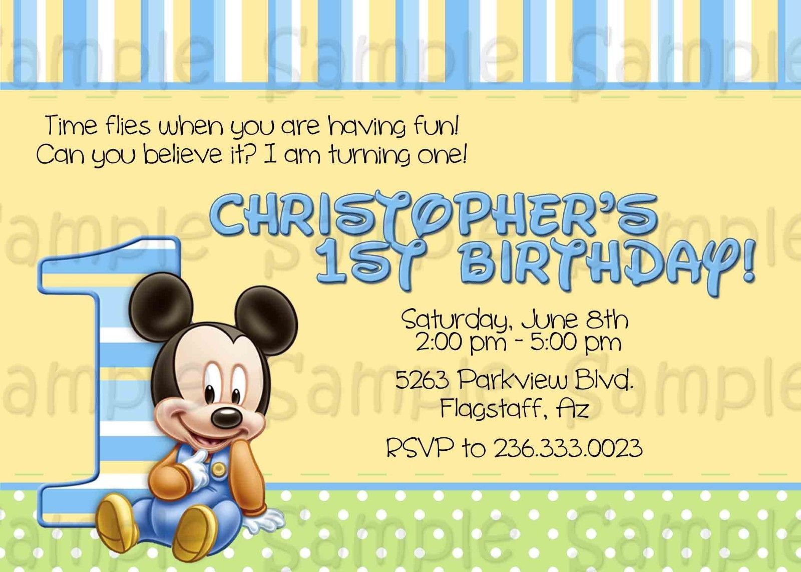 Awesome baby mickey first birthday invitations download this awesome baby mickey first birthday invitations download this invitation for free at https filmwisefo