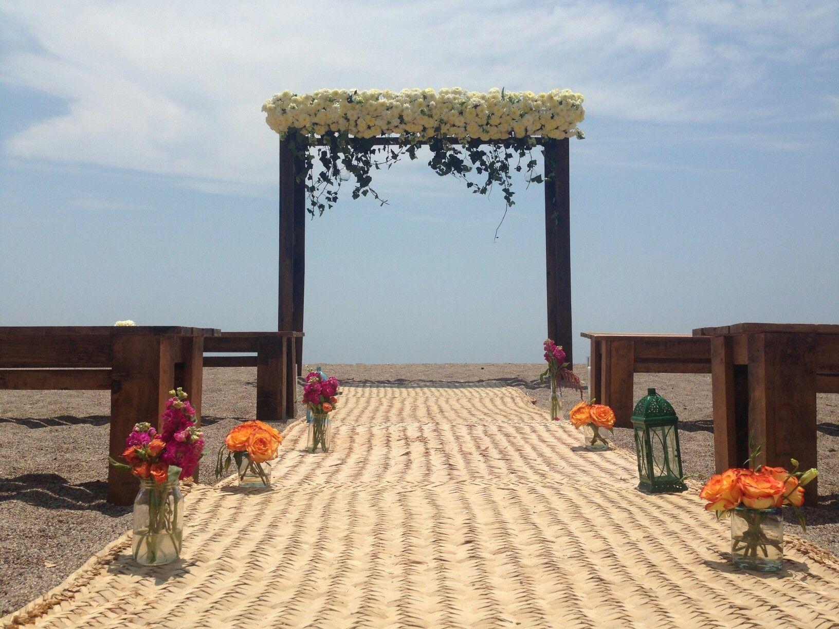 Beach Ceremony At Puerto Vallarta With @mobva.mobiliario