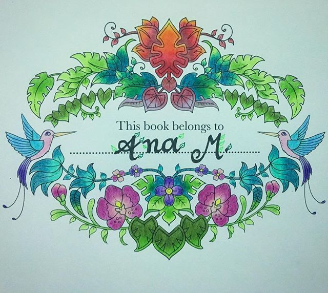 Gracias @paulaanrearoldanmaya! Así comienza la aventura de #magicaljungle combinando #colouring & #lettering #junglamagica #johannabasford #coloring #colombia #mycreativescape #thesecretgarden #adultcoloring #coloringbook #colorful #arttherapy #lajunglamagica #magicaljunglebook #colouringbook #colouringforadults #crayola #prismacolor