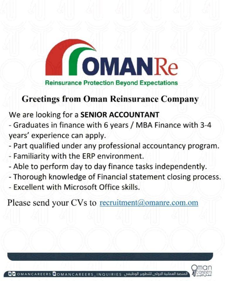 Accountant Oman Openings In 2020