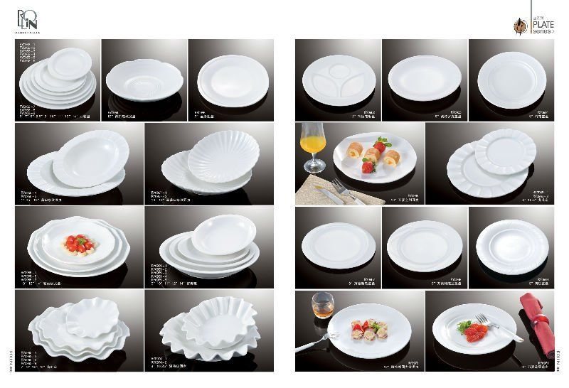 Good Quality Restaurant Supply Crockery Dinnerware White Ceramic