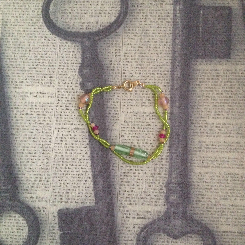Springtime Tube Bracelet (Set) on Etsy, $45.00