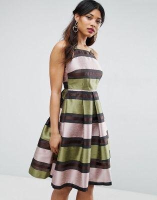 ASOS Stripe Midi Prom Dress | Dresses | Pinterest | Asos online ...